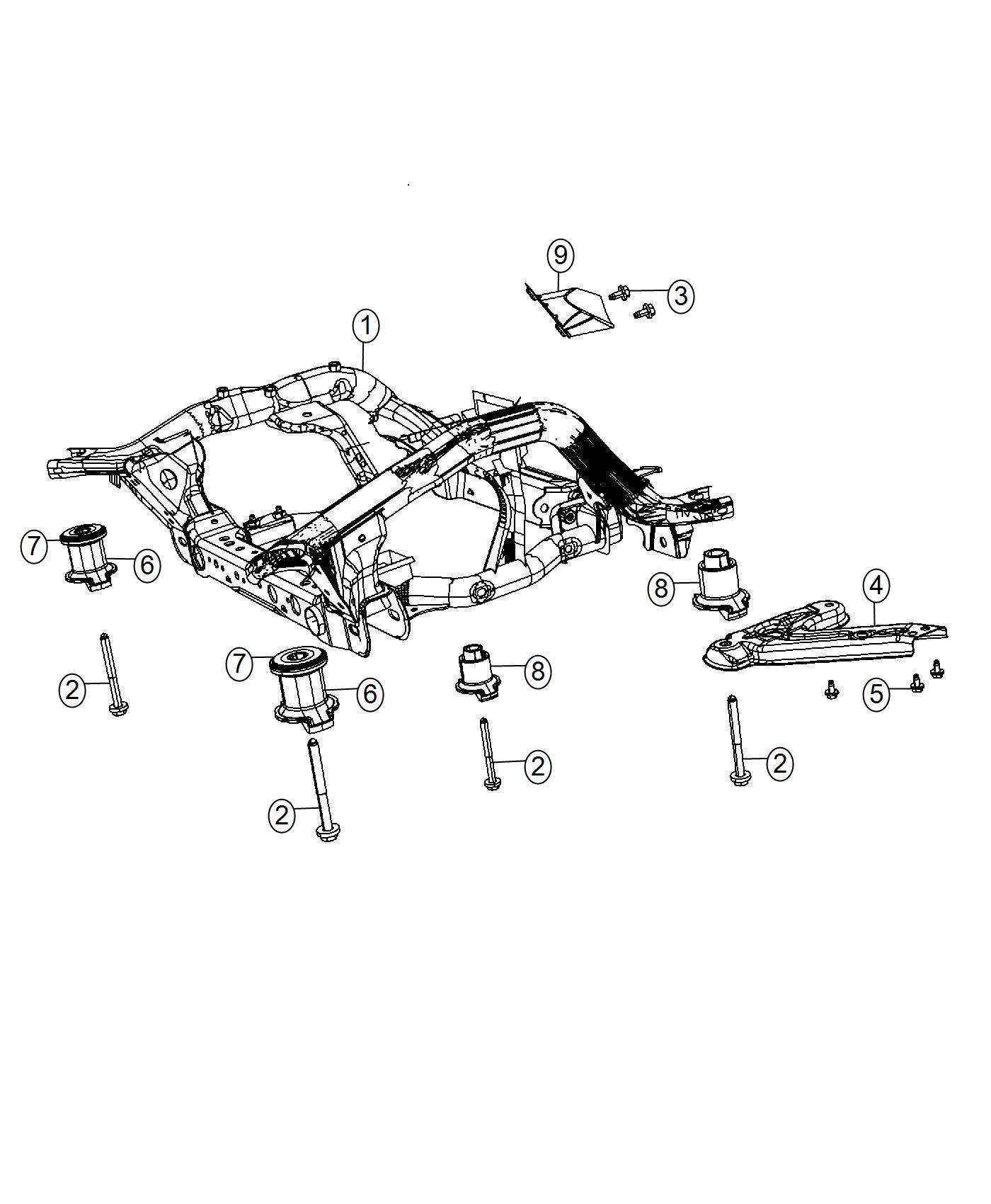 Dodge Magnum Cradle. Front suspension. [all v8 engines