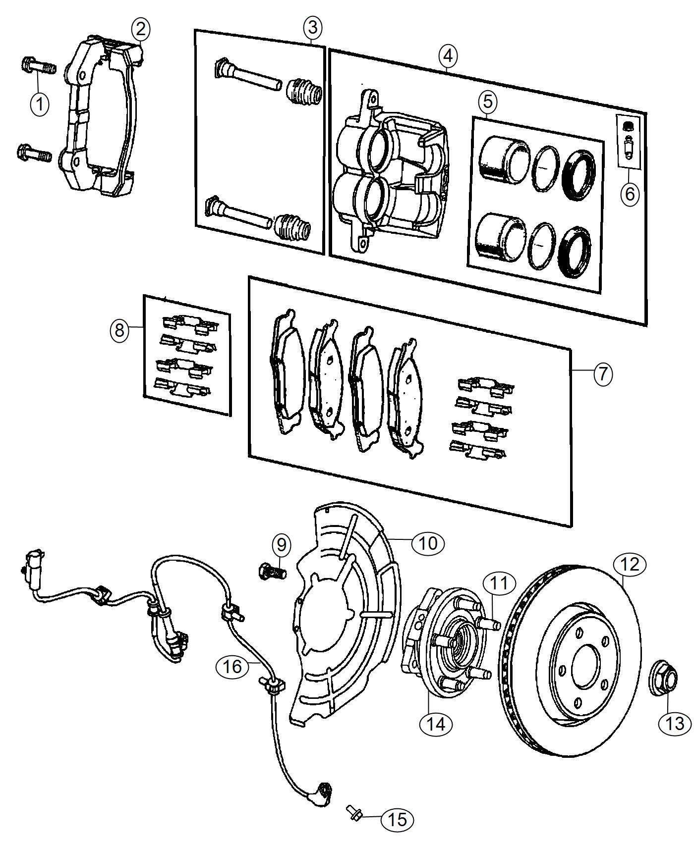 Dodge Durango Pin Kit Disc Brake Wheel Brakes