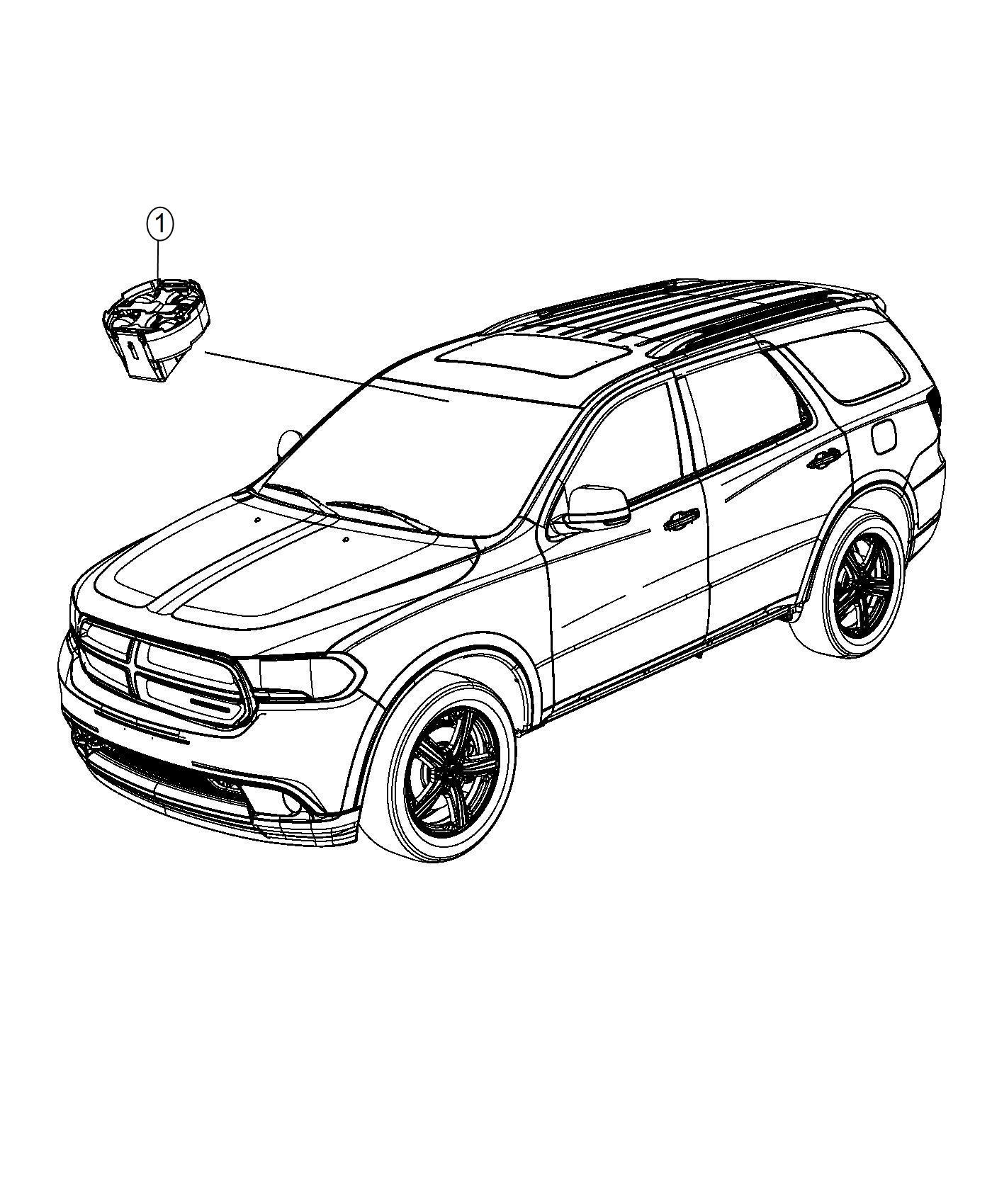 2014 Dodge Durango Module. Rain sensor. [rain sensitive