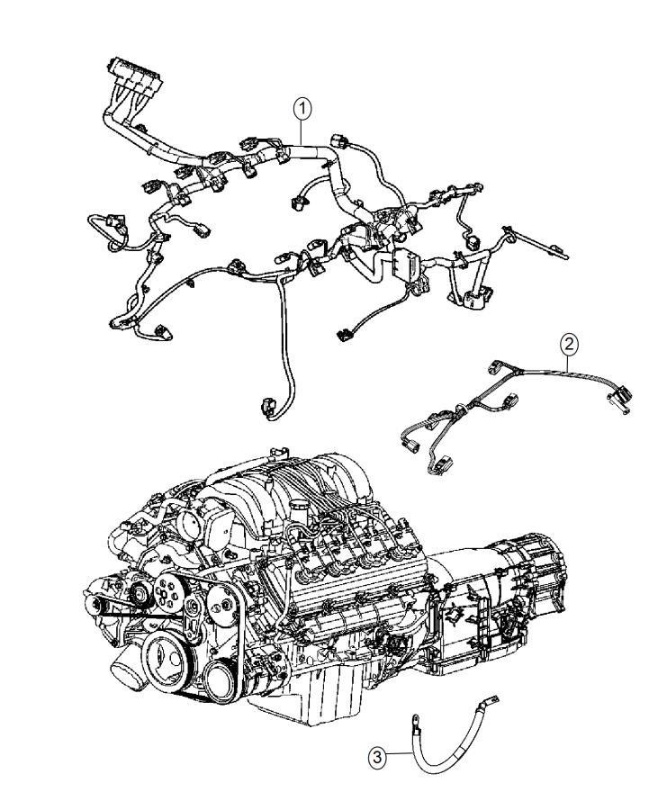 2014 Dodge Durango Bracket. Engine wiring. Engine mount