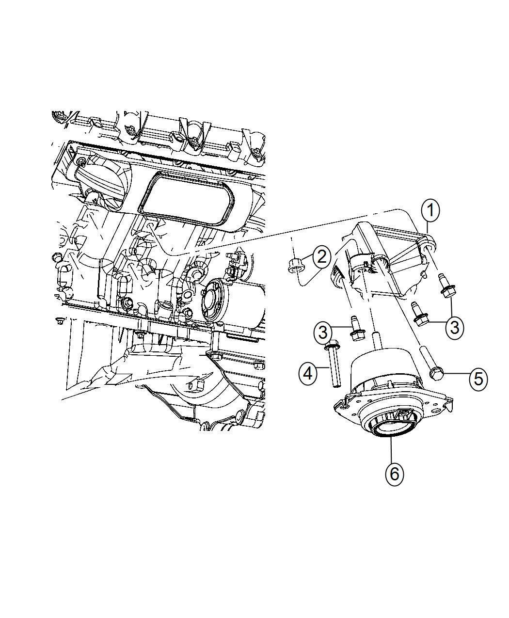 Dodge Durango Bracket Engine Mount Left Side Mounting