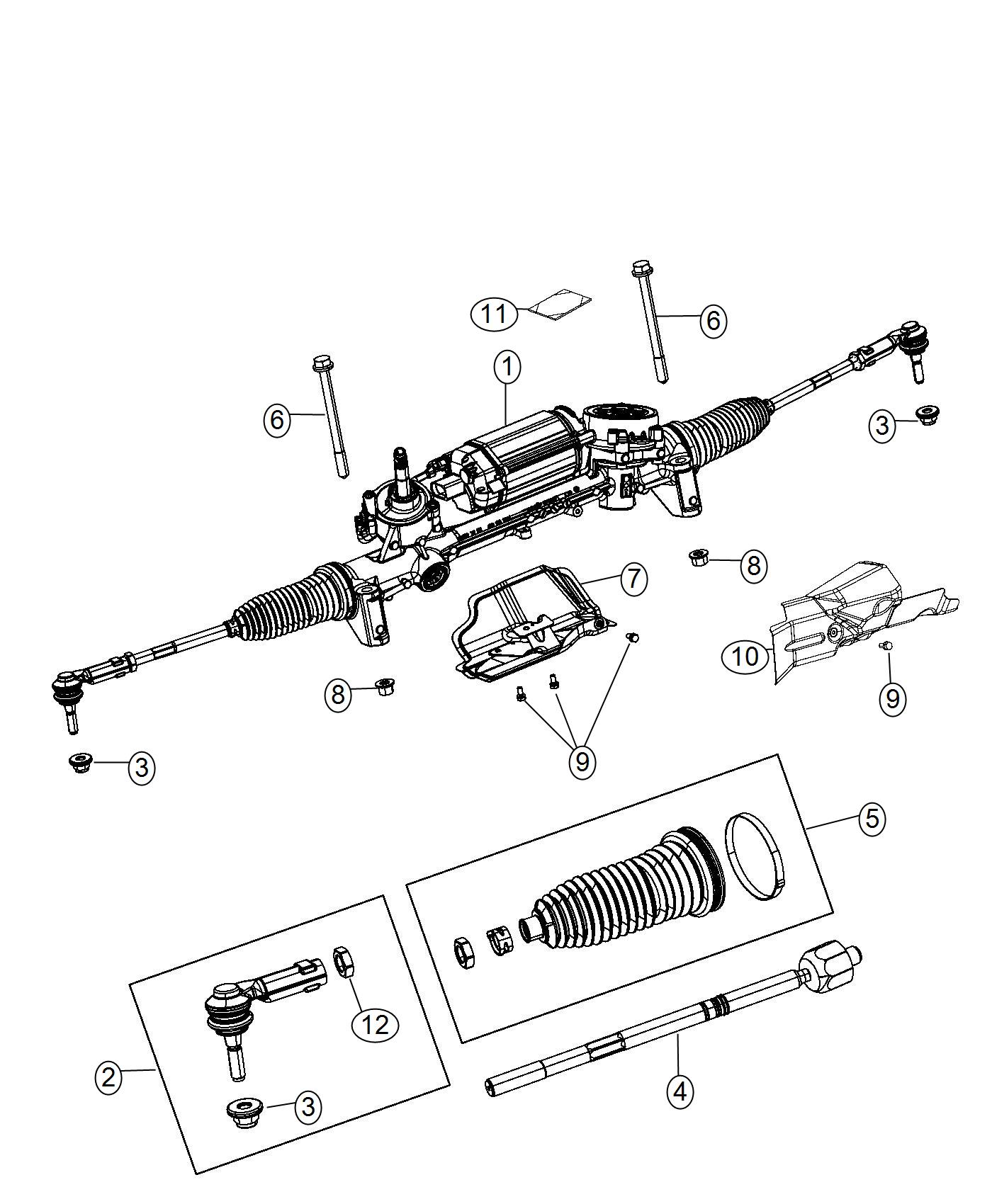 Jeep Cherokee Gear Rack And Pinion Sda Or Sdf