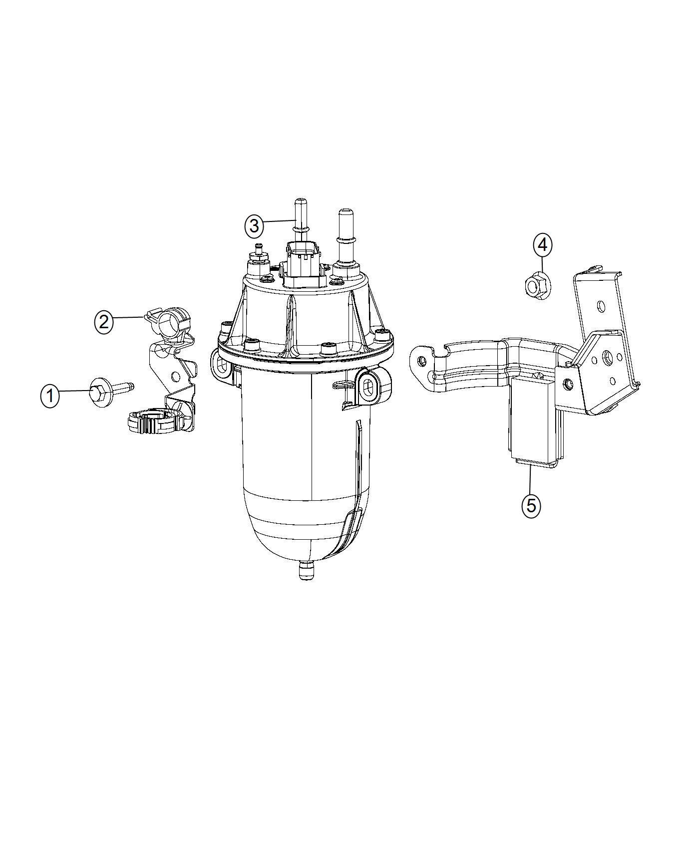 2016 Dodge Ram 2500 Filter assy. Fuel. Maintenance