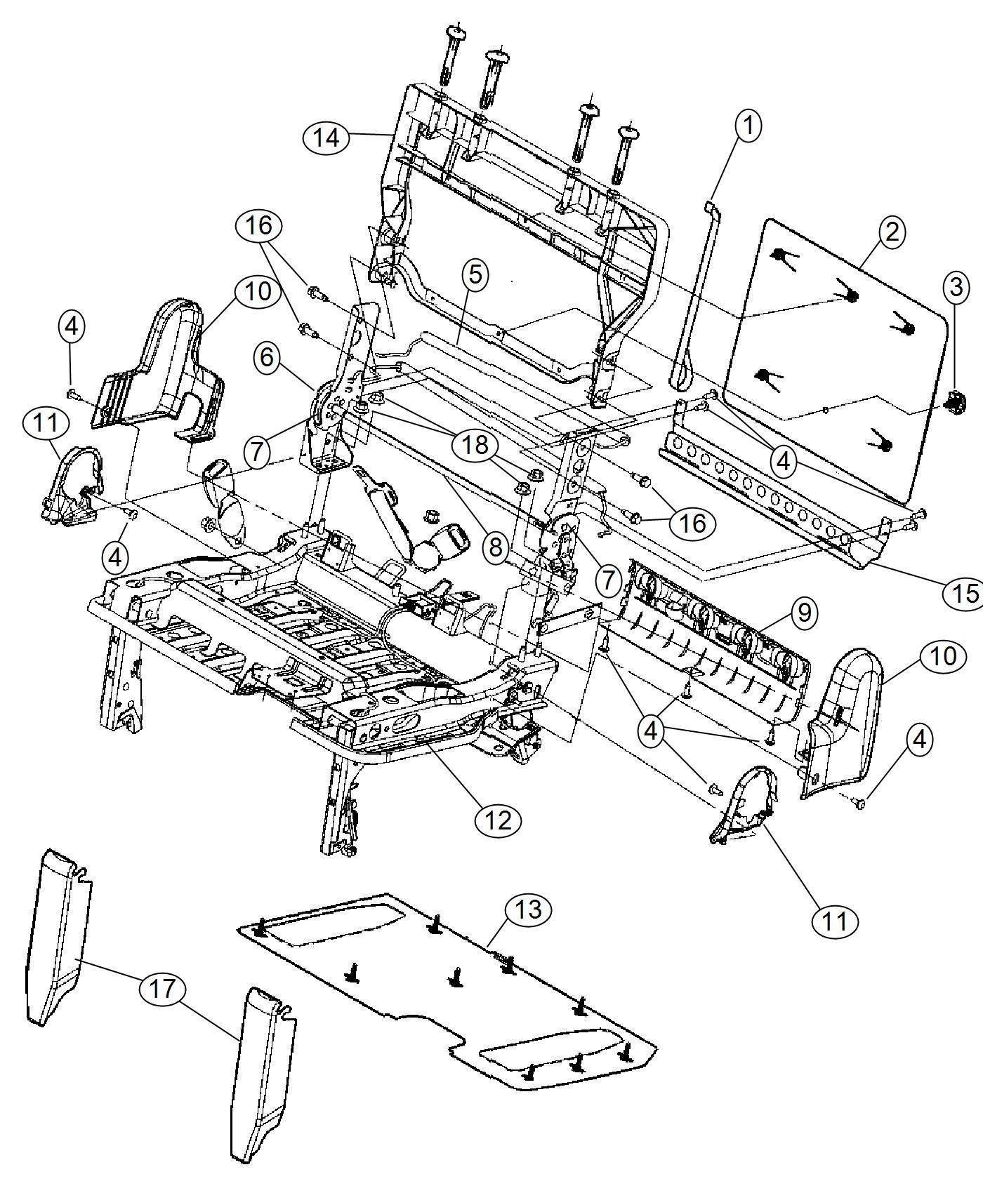 2013 Dodge Grand Caravan Panel. Seat back. [jrj], [jrj