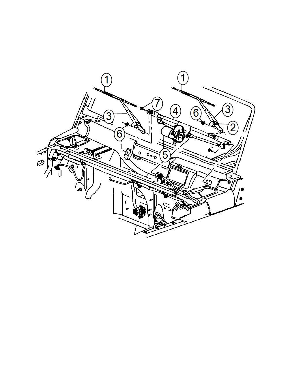 2014 Jeep Wrangler Used for: MOTOR AND LINKAGE. Windshield