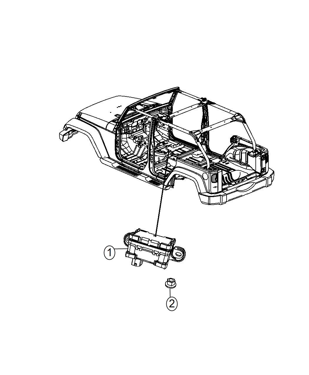 2014 Jeep Wrangler Sensor. Dynamics. Used for: lateral