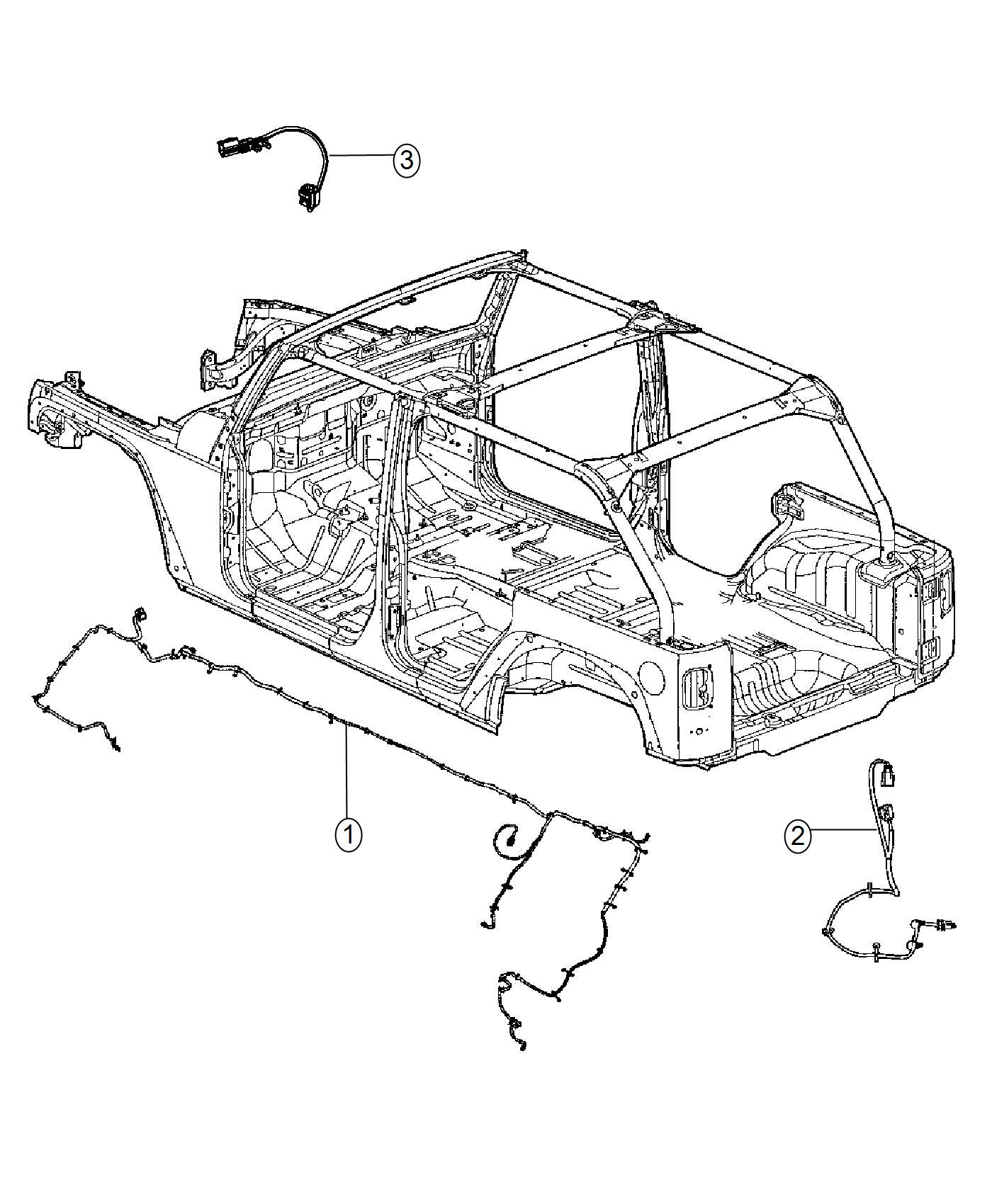 Jeep Wrangler Wiring. Chassis. [locker rear axle