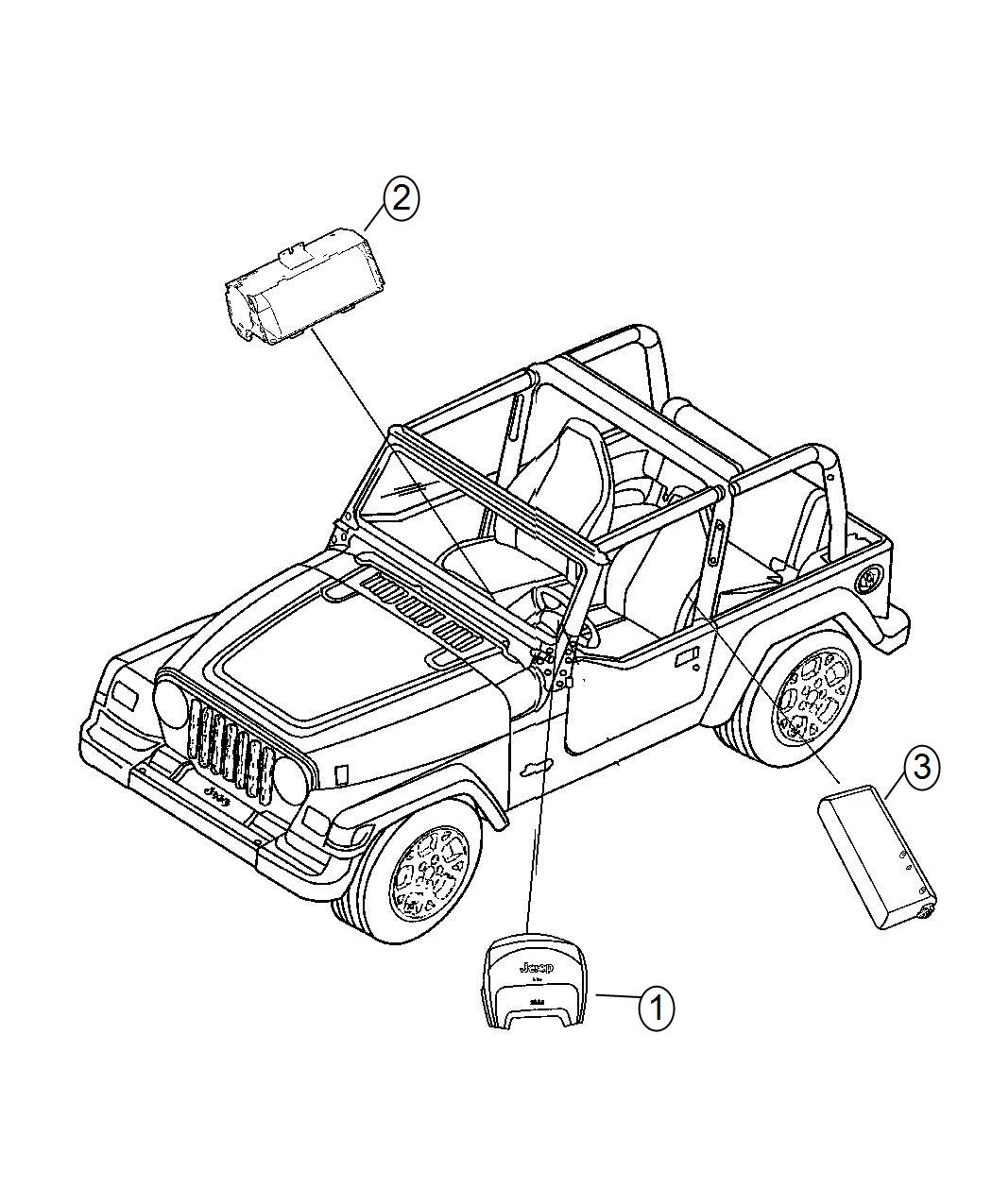 2014 Jeep Wrangler Air bag. Driver. [advanced multistage