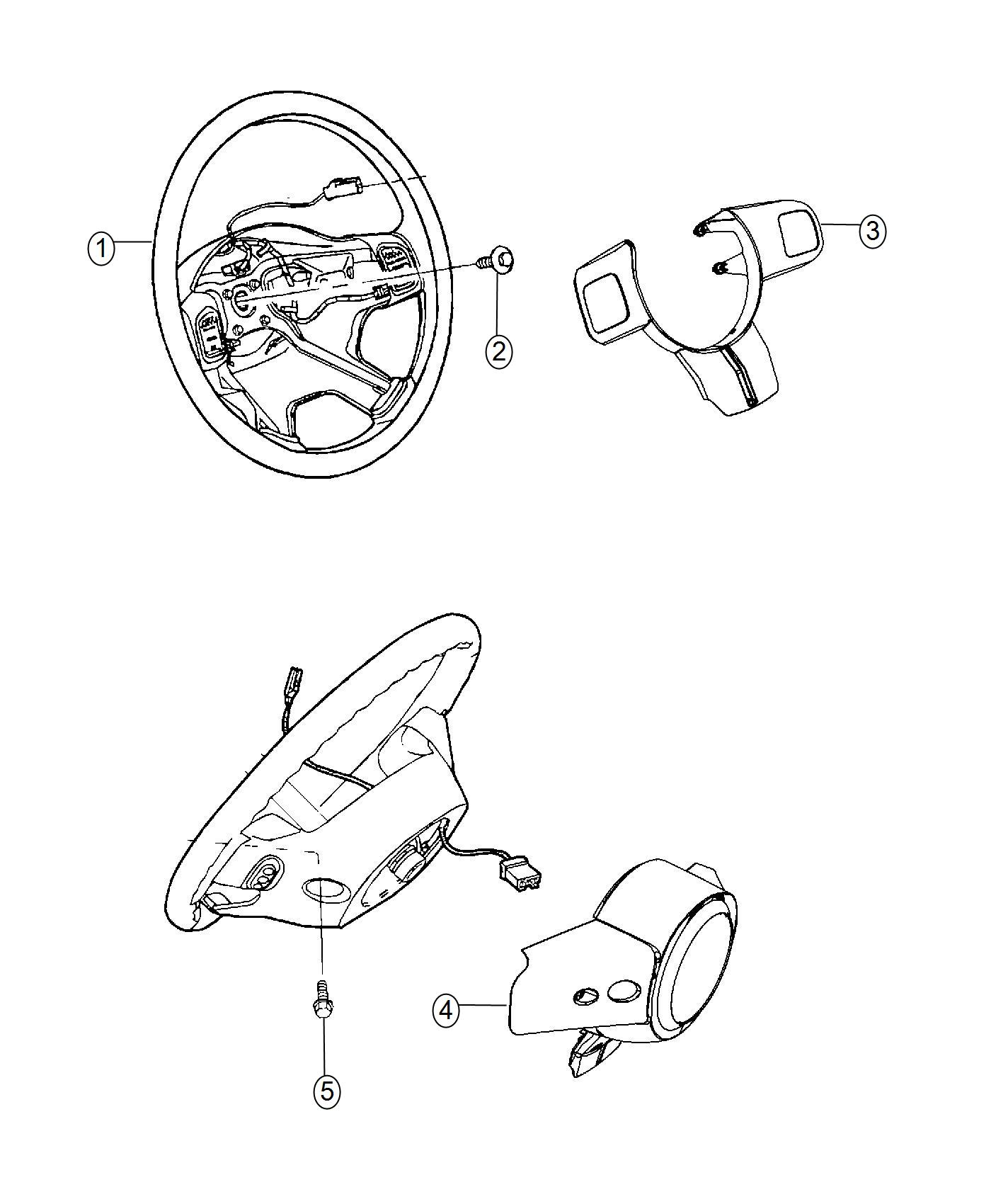 Jeep Wrangler Wheel Steering Trim No Description Available Color Black