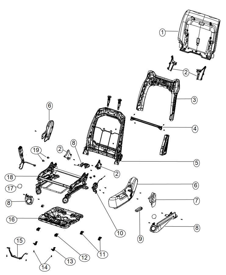 Dodge Durango Shield. Seat adjuster. Outer. Export, left