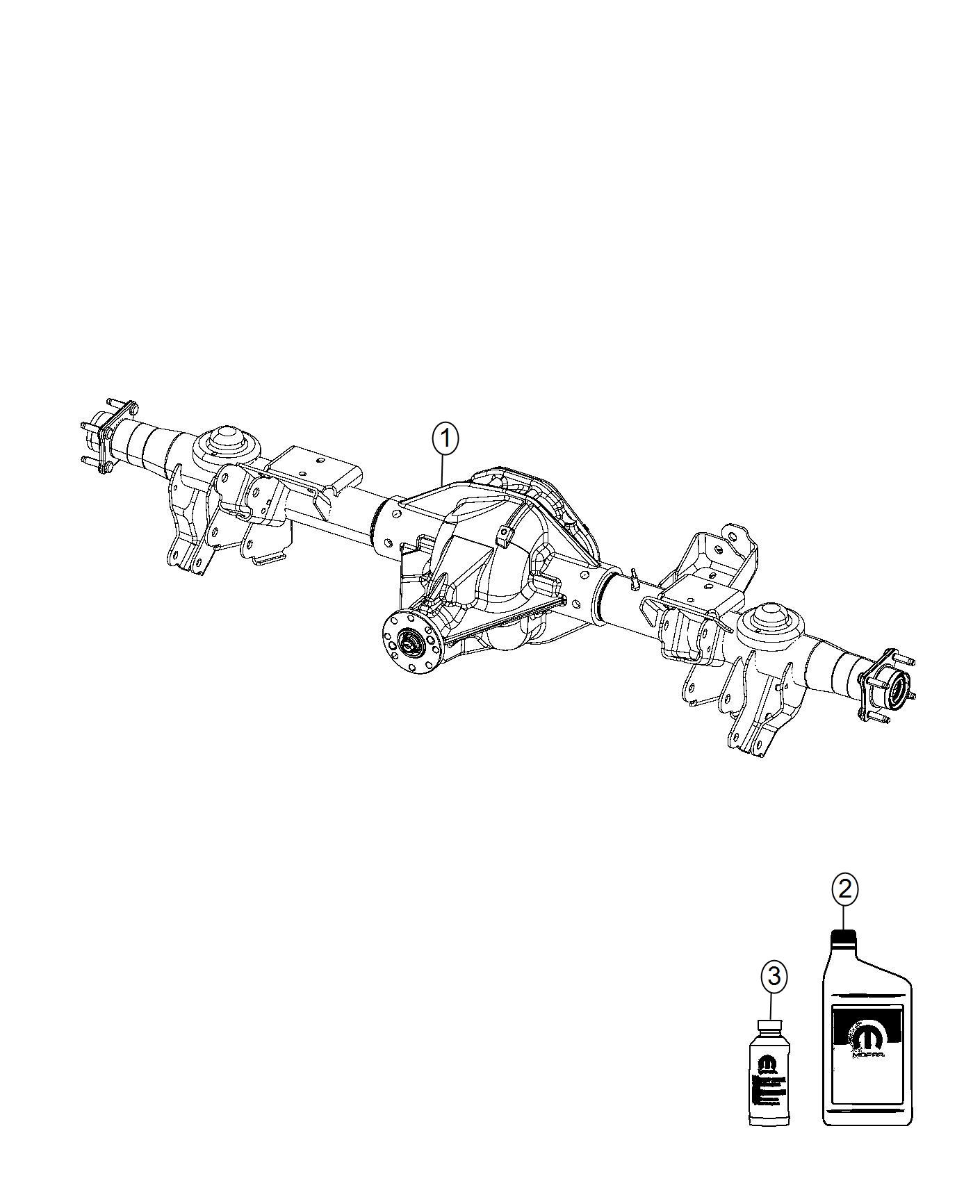 Dodge Ram Axle Assembly Rear Complete Ratio