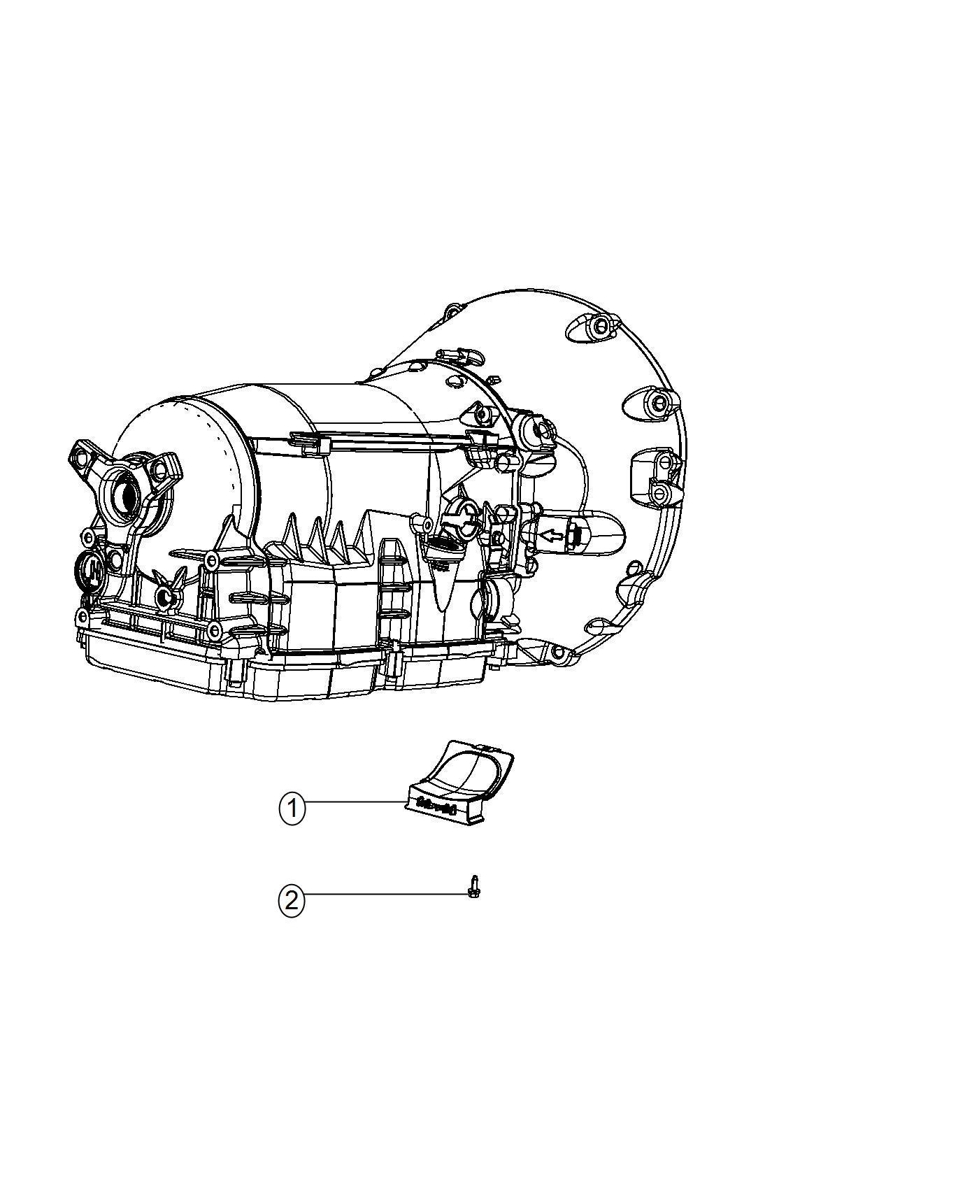 2013 Chrysler 300 Shield. Transmission. Mounting