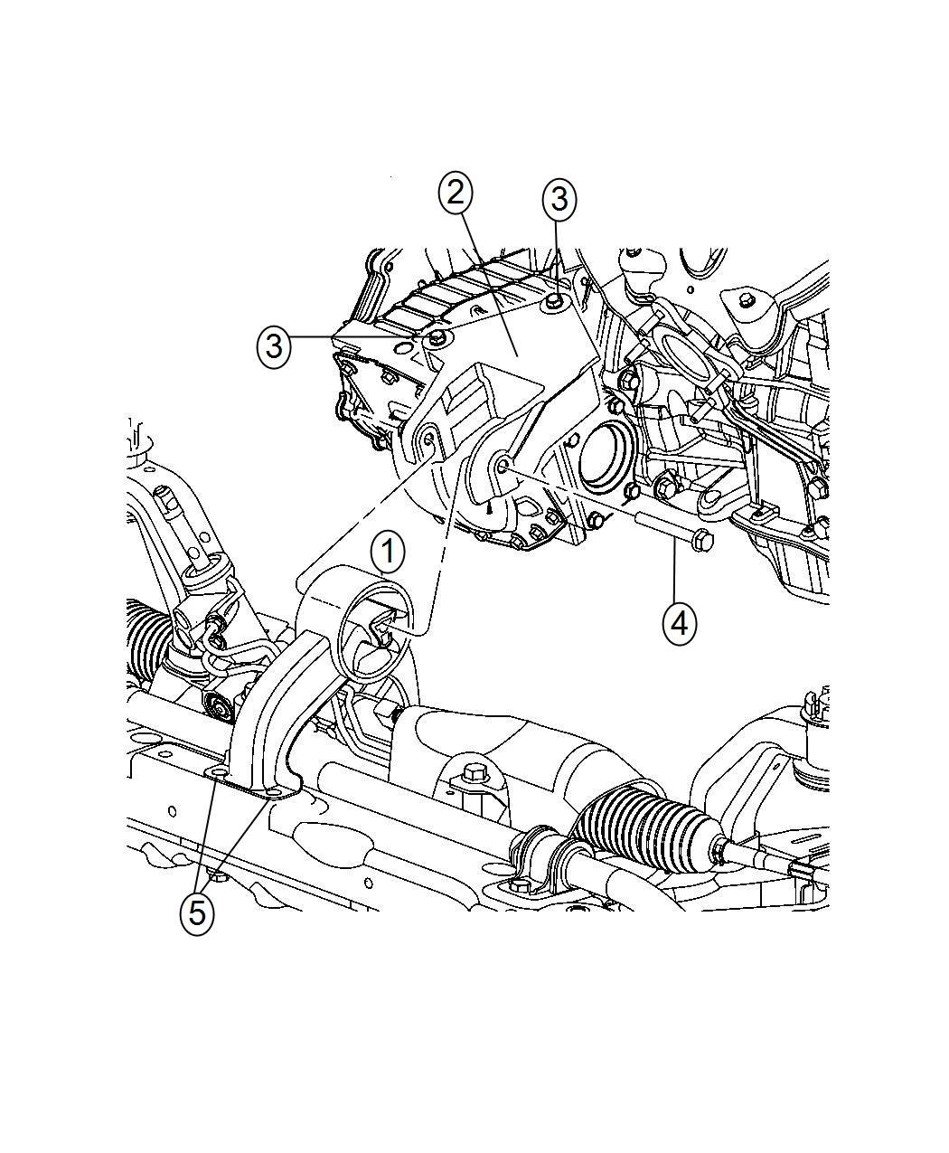 Chrysler 200 Bushing Engine Mount Isolator Rear