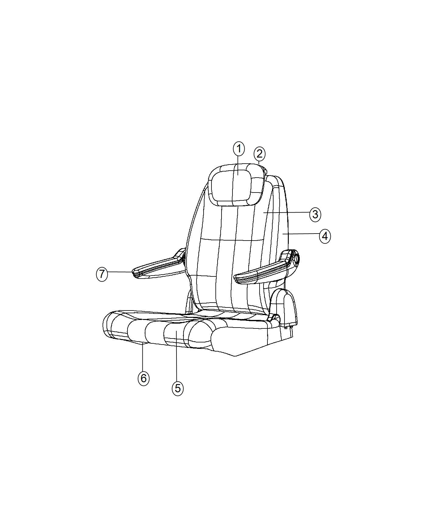Dodge Grand Caravan Mechanism Headrest Folding Right