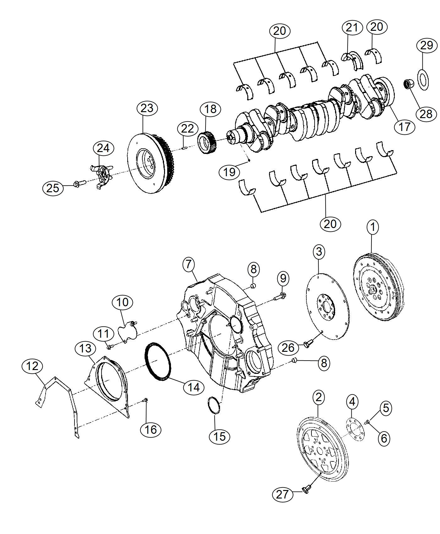 2014 Ram 3500 Flywheel. Engine dual mass. Manual