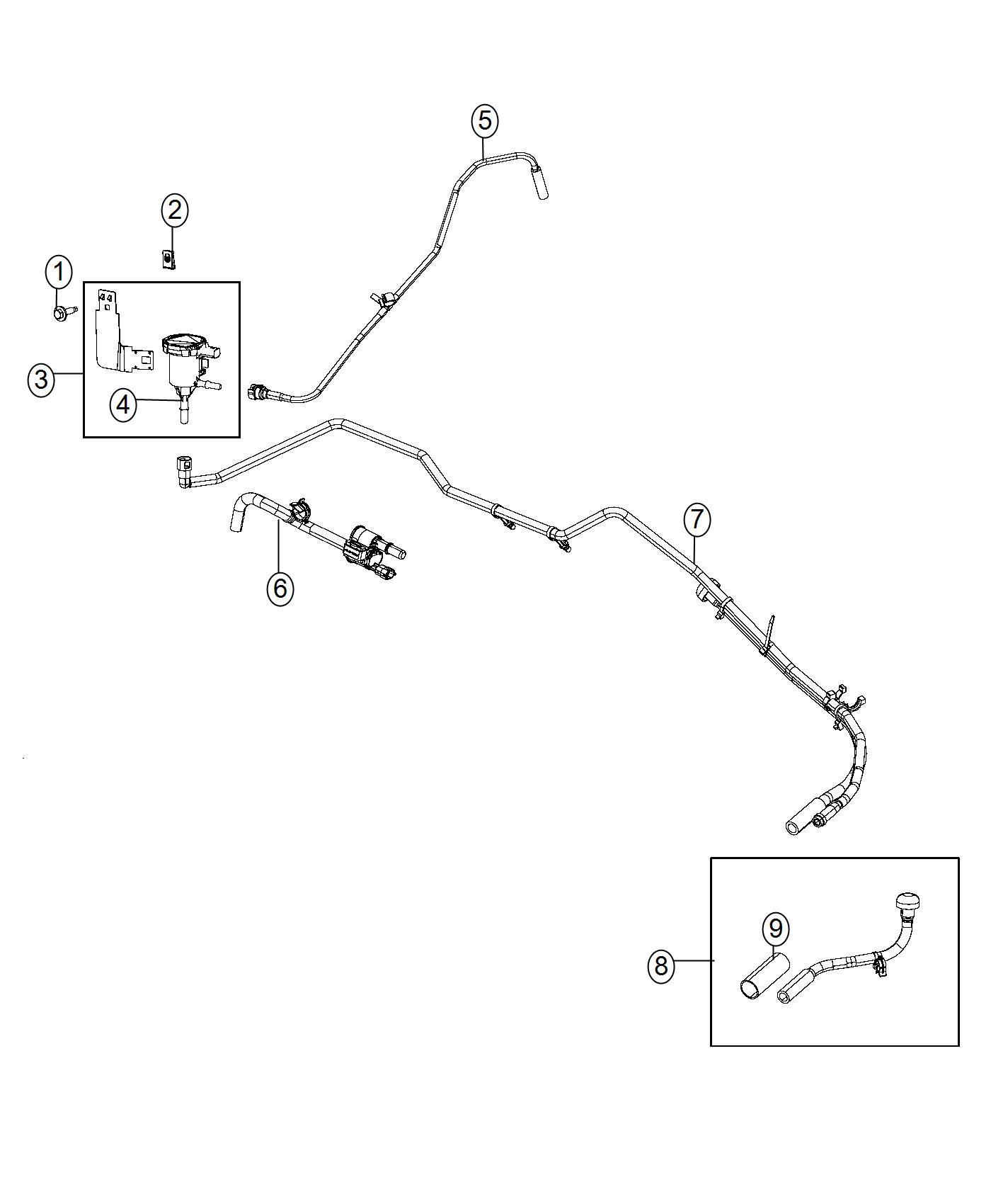 Dodge Ram Harness Vapor Canister Purge Vacuum