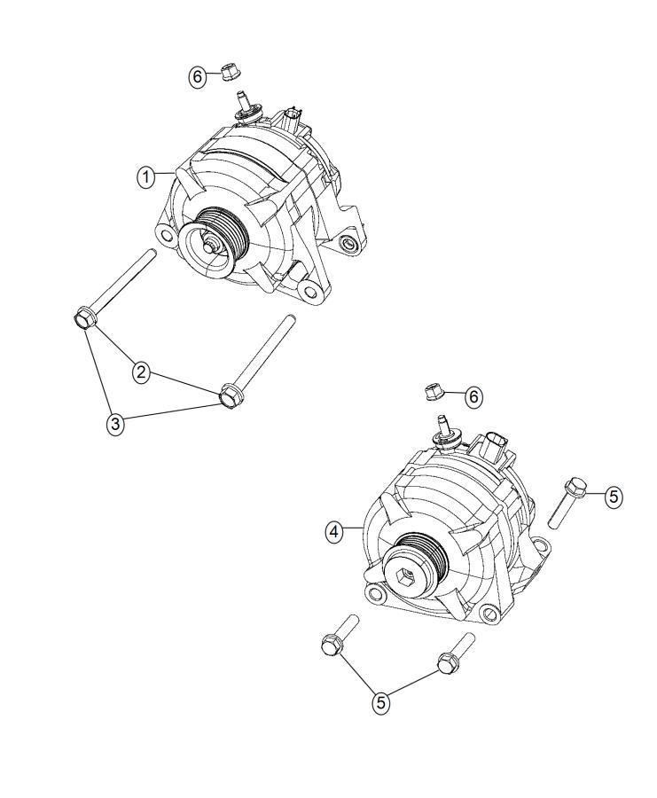 Ram 2500 Bracket. Alternator. [dual alternators rated at
