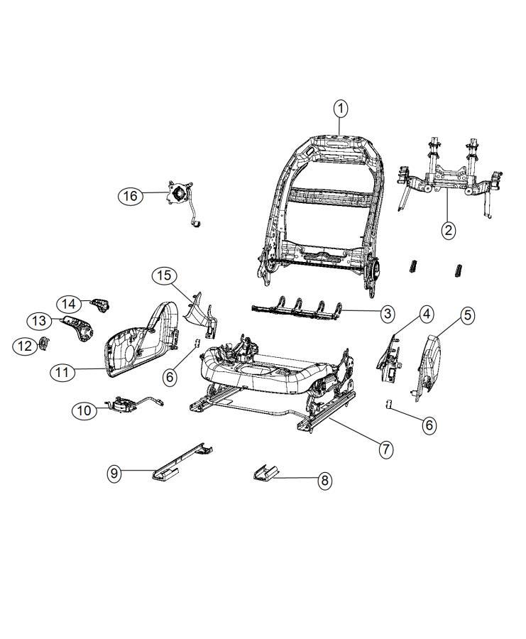 2015 Chrysler 200 Cover. Seat track. Trim: [no description