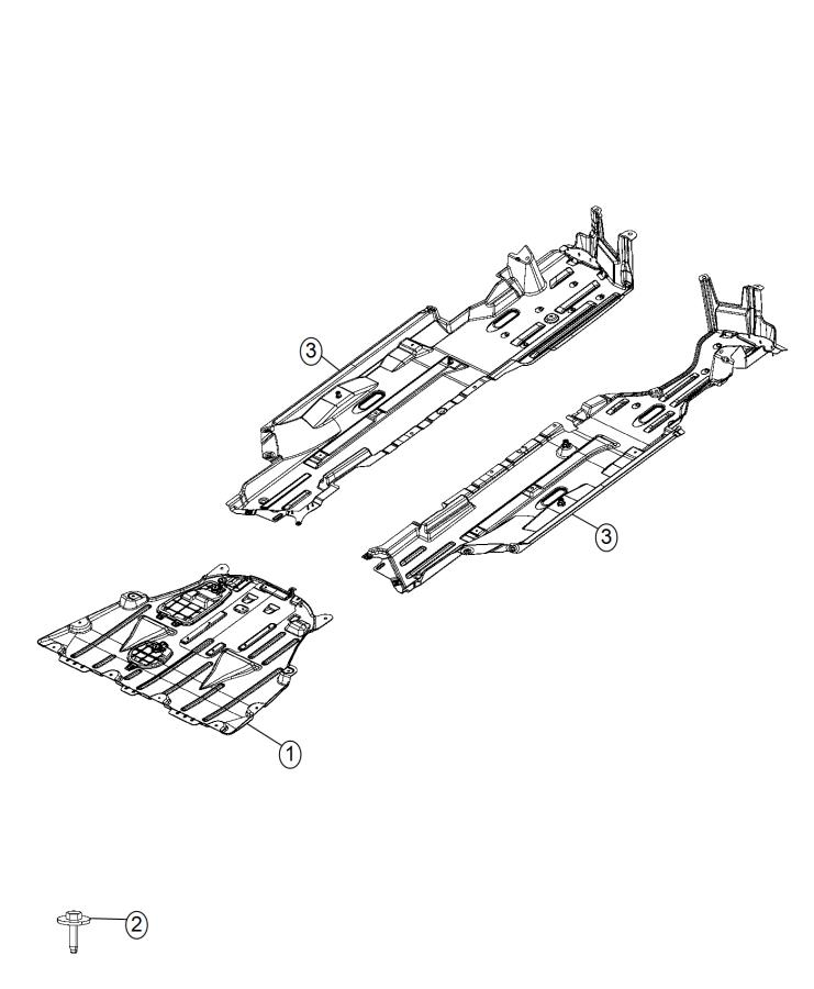 2015 Chrysler 200 Belly pan. Front. Engine, air, pzev