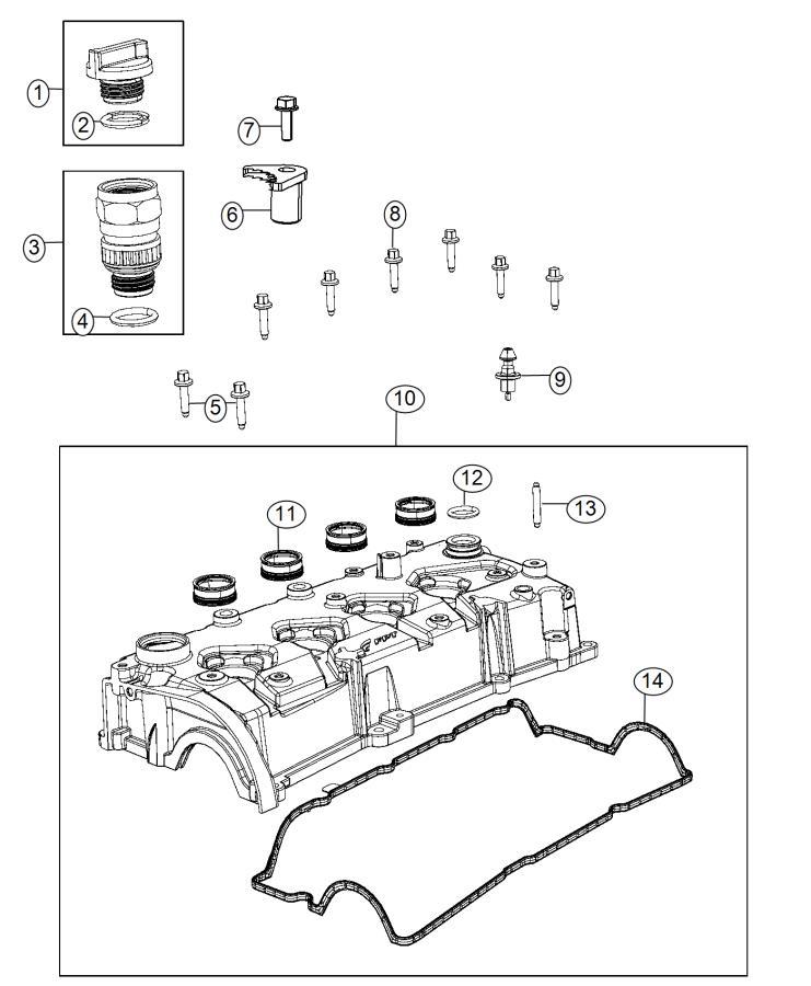 2013 Dodge Dart Gasket. Cylinder head cover. Turbocharged