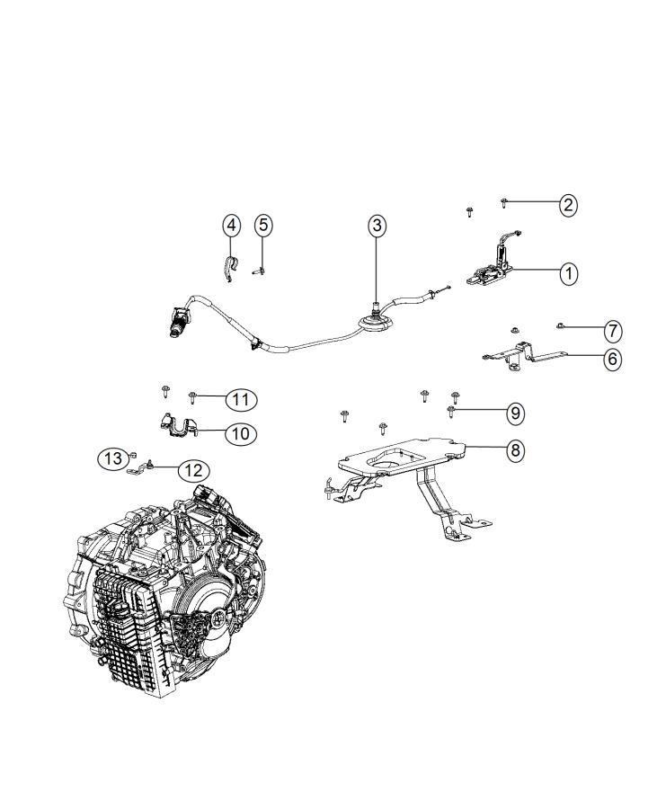 Chrysler 200 Plate. Transmission shifter. Gearshift