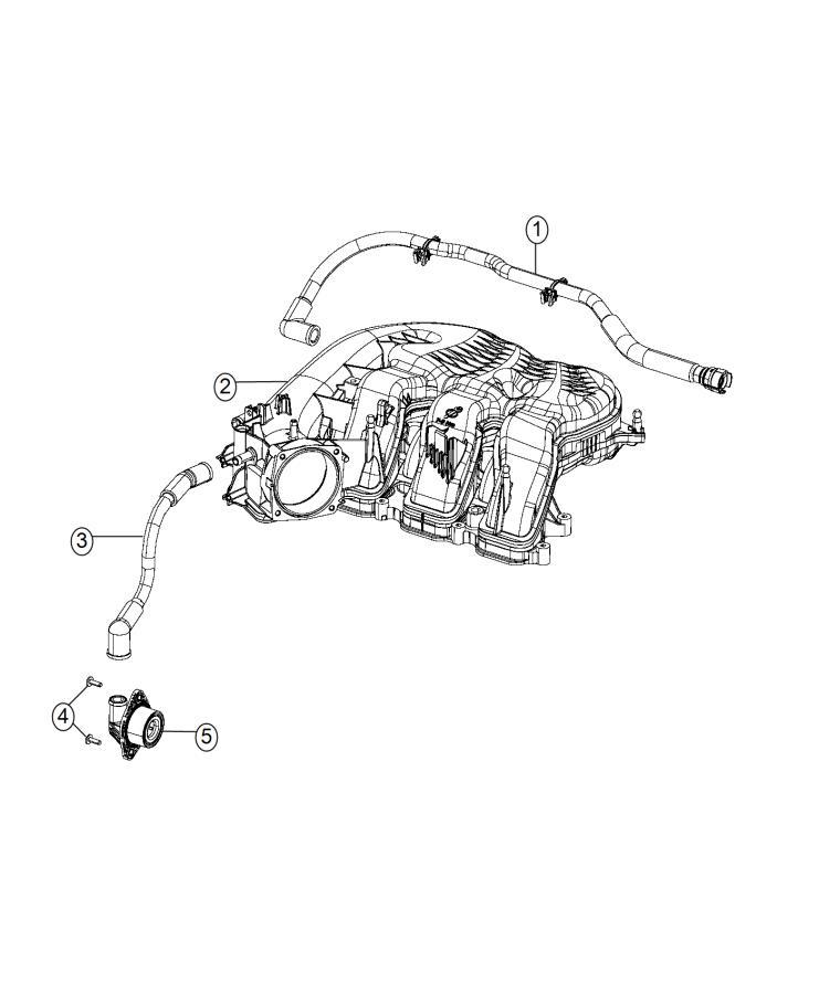 Chrysler 200 Valve. Pcv. Ventilation, crankcase, engine