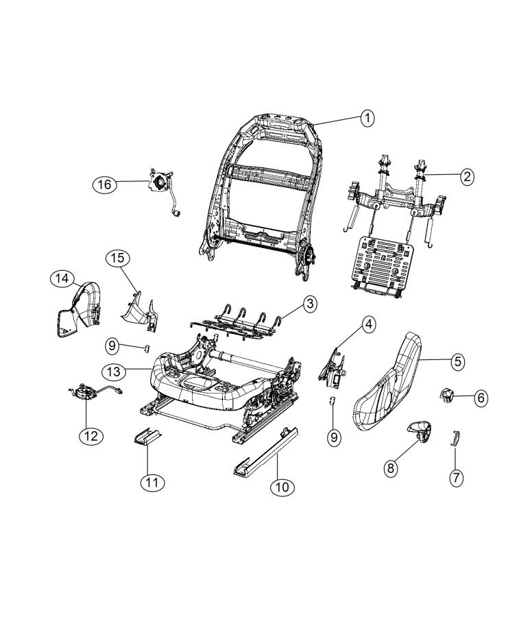 Chrysler 200 Adjuster. Manual seat. [manual 6-way driver