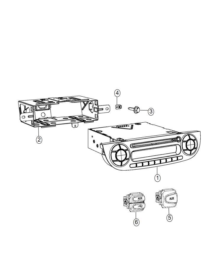 Fiat 500 Usb. Charging port. [auxilary audio input jack