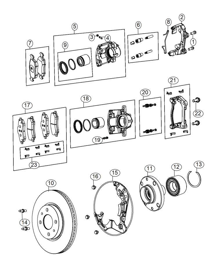 2015 Fiat 500E Rotor. Brake. Front. Export. [4-wheel disc