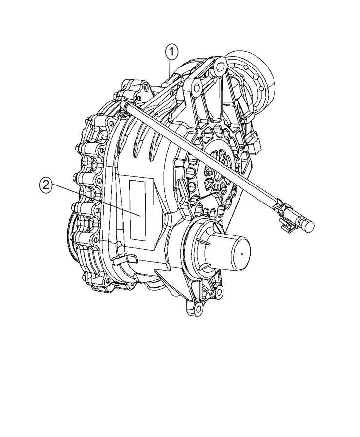 2015 Dodge Journey Power transfer unit. Mounting, awd