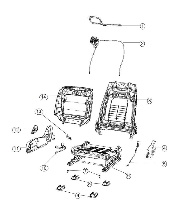 2013 Dodge Challenger Adjuster. Manual seat. Trim: (*ul