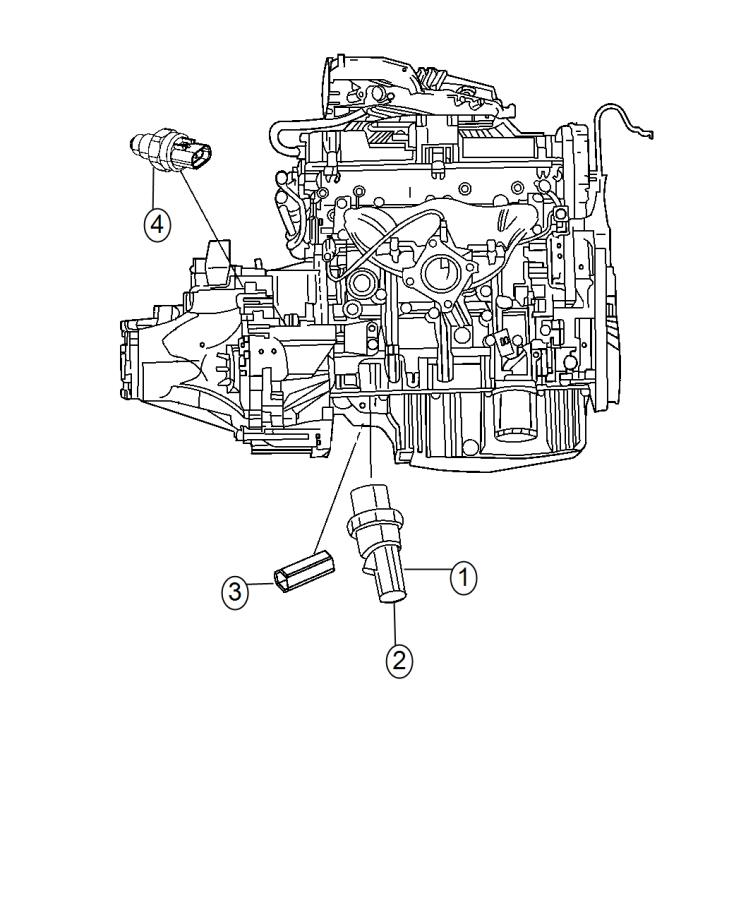 2015 Dodge Journey Switch. Oil pressure. Export. Nzm, nzf