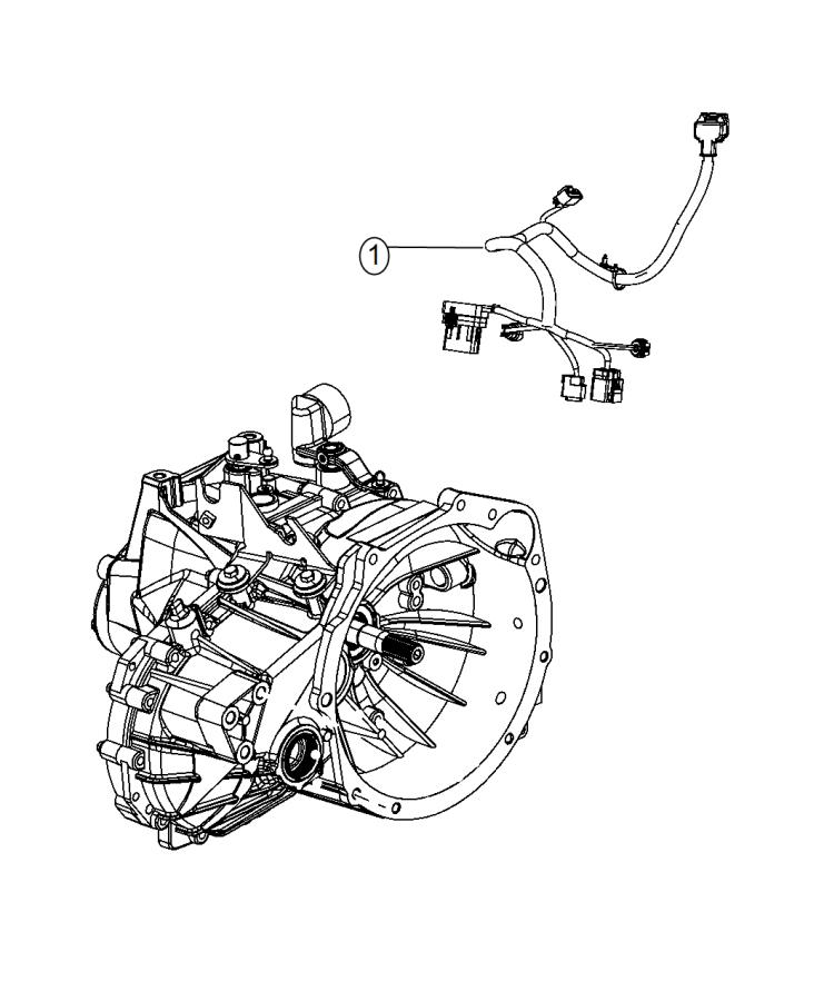 2015 Dodge Journey Wiring. Transmission. Export