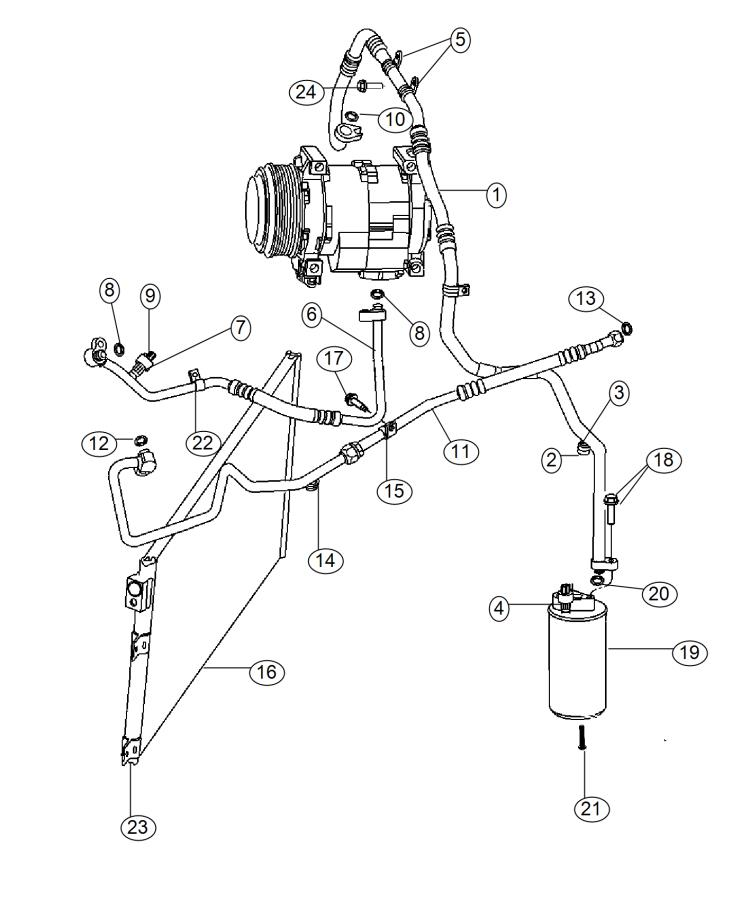 2017 Dodge Viper Drier. Receiver. Air, plumbing