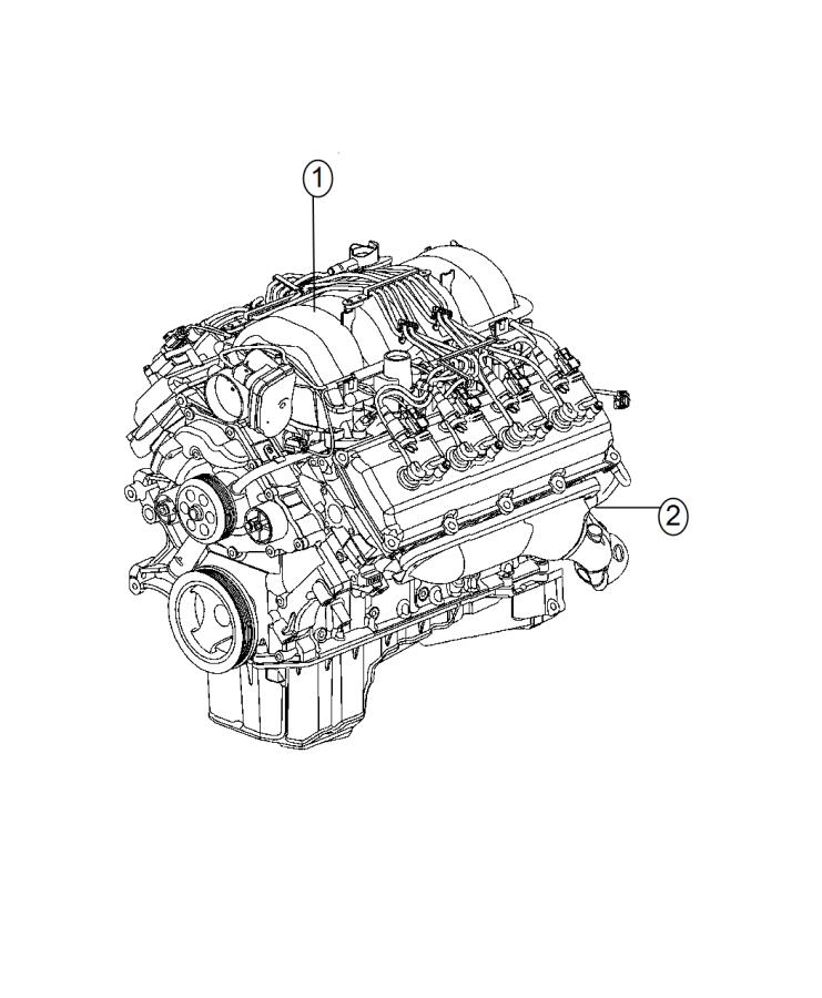 Jeep Grand Cherokee Engine. Long block. Remanufactured