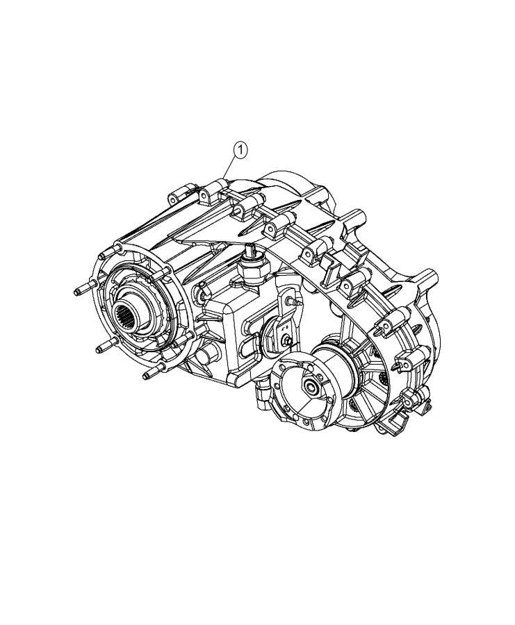 2009 Jeep Wrangler Transfer case. Np241. Assembly, fly