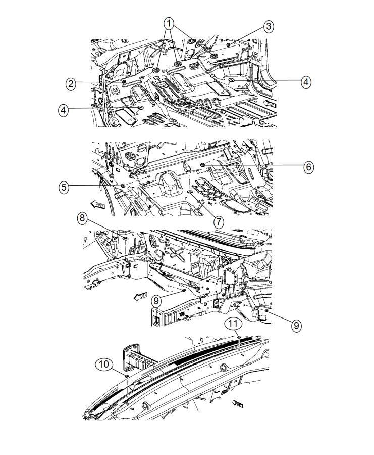 Jeep Cherokee Plug. Body. Cowl top, cowl top, rear quarter