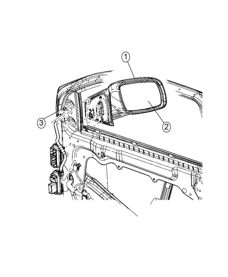 Dodge Journey Mirror. Outside rearview. Left. Color: [no
