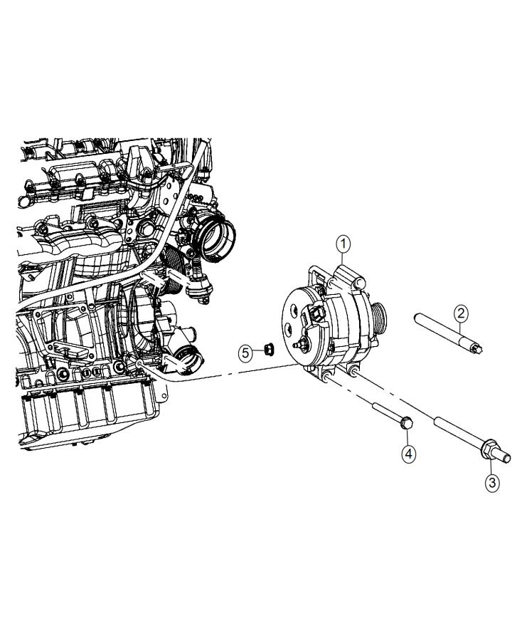 2015 Jeep Grand Cherokee Generator. Engine. [220 amp