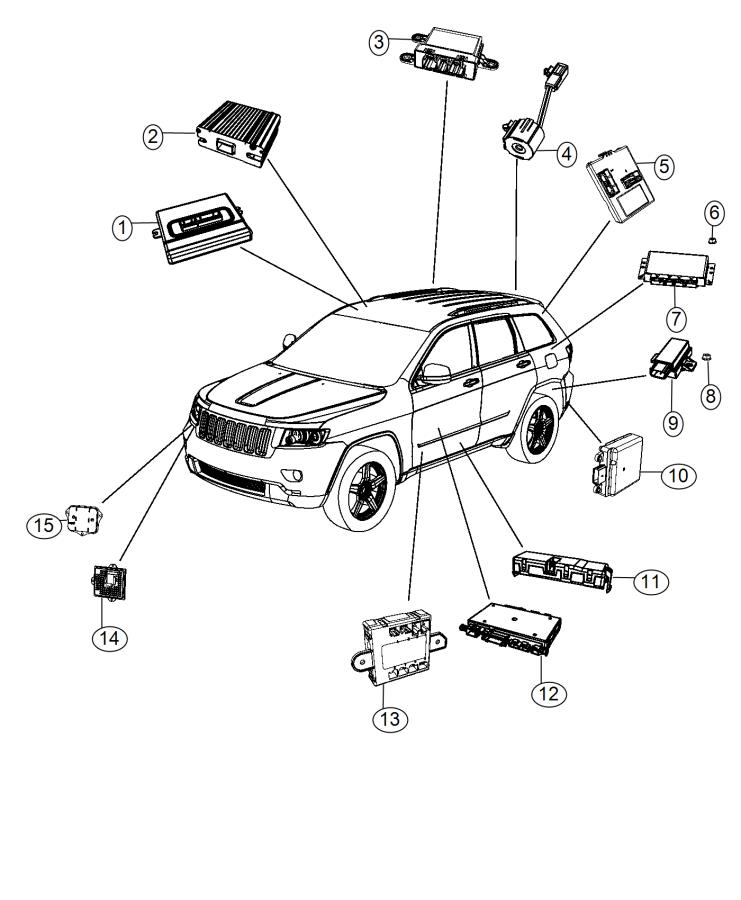 2015 Dodge Viper Module. Tire pressure monitoring. Xgm