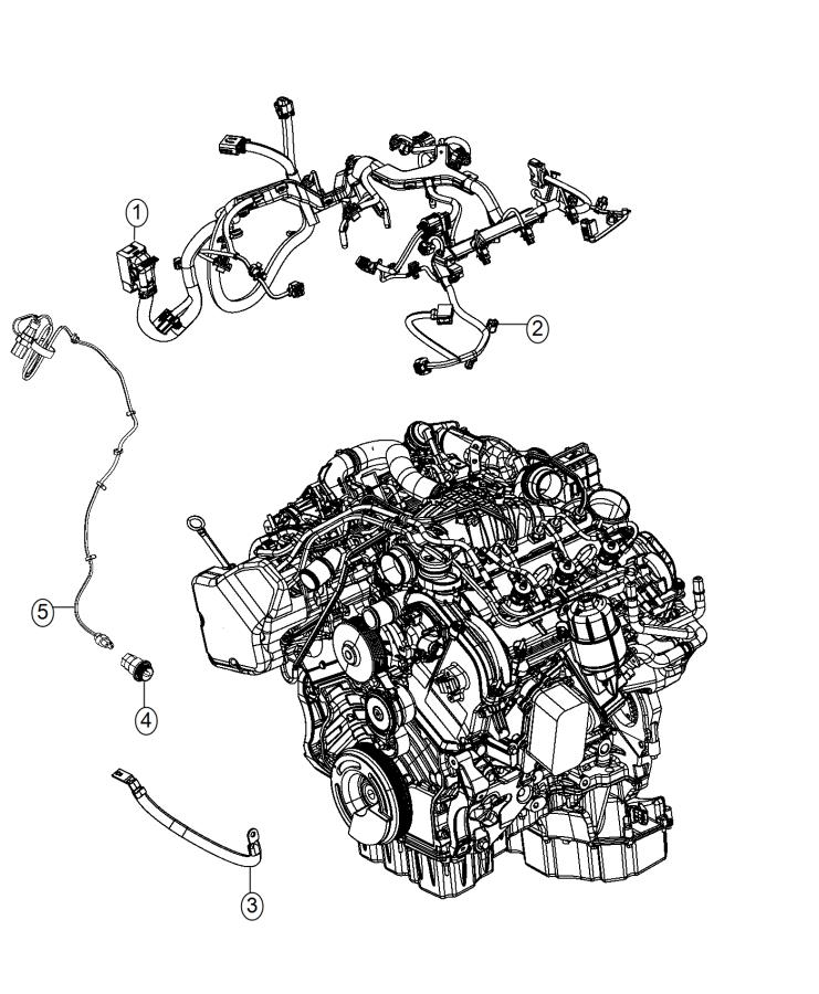 2015 Jeep Grand Cherokee Wiring. Injector. [50 state