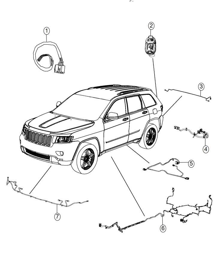 2015 Jeep Grand Cherokee Wiring kit. Trailer tow. Group