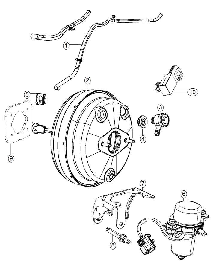 2015 Dodge Journey Gasket. Vacuum pump. Mounting. Diesel