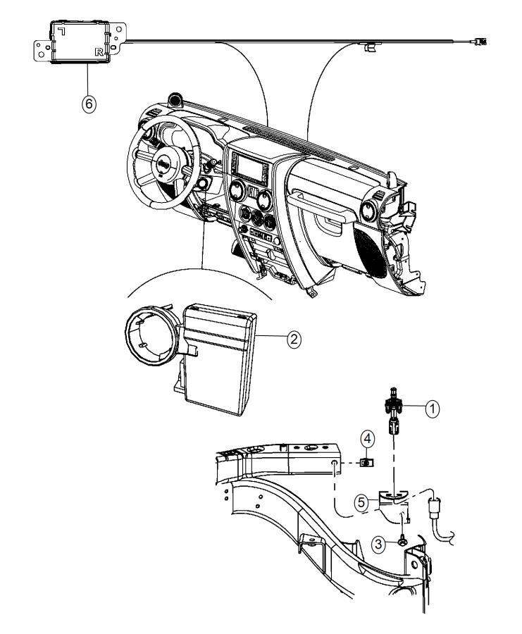 2014 Jeep Wrangler Bracket. Hood switch. Start, remote