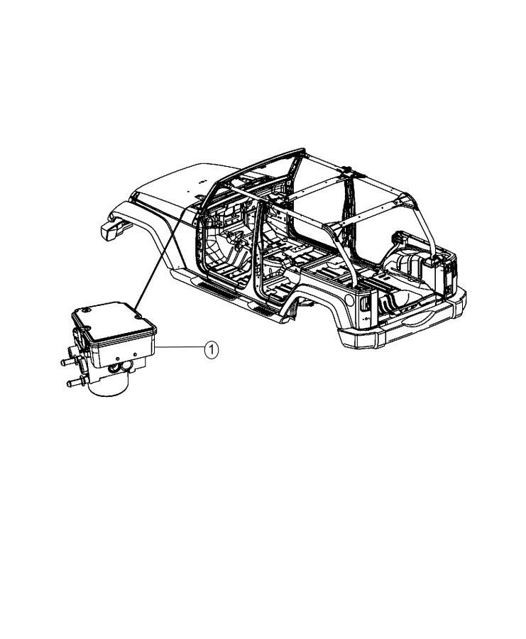 2015 Jeep Wrangler Module. Anti-lock brake system. On or
