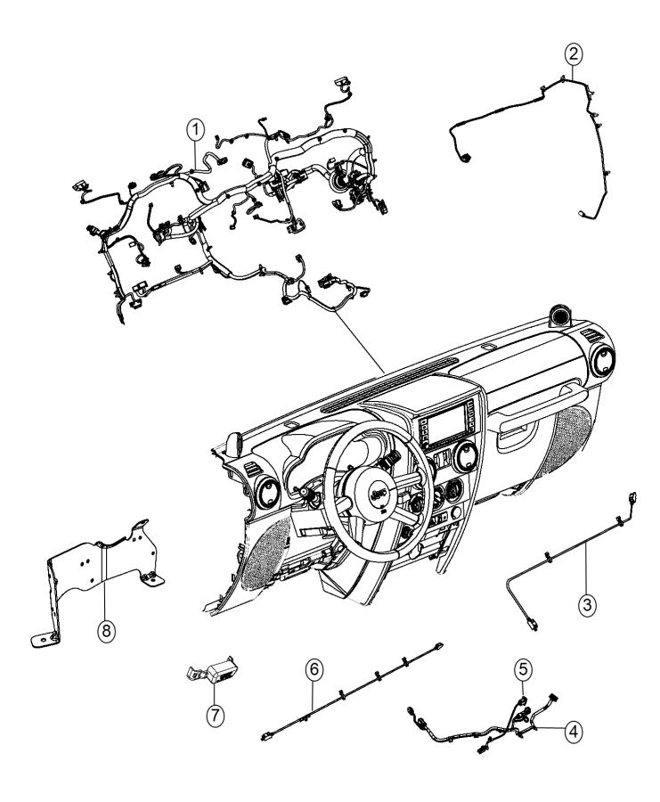 Jeep Wrangler Wiring. Instrument panel. Export