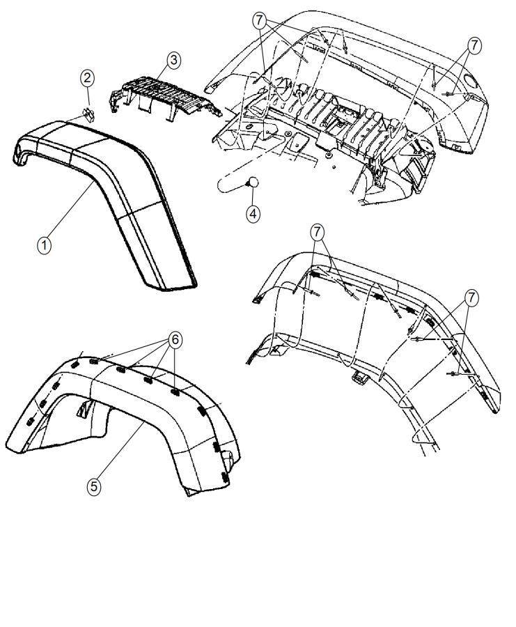 2016 Jeep Wrangler Applique, molding. Right. Fender wheel