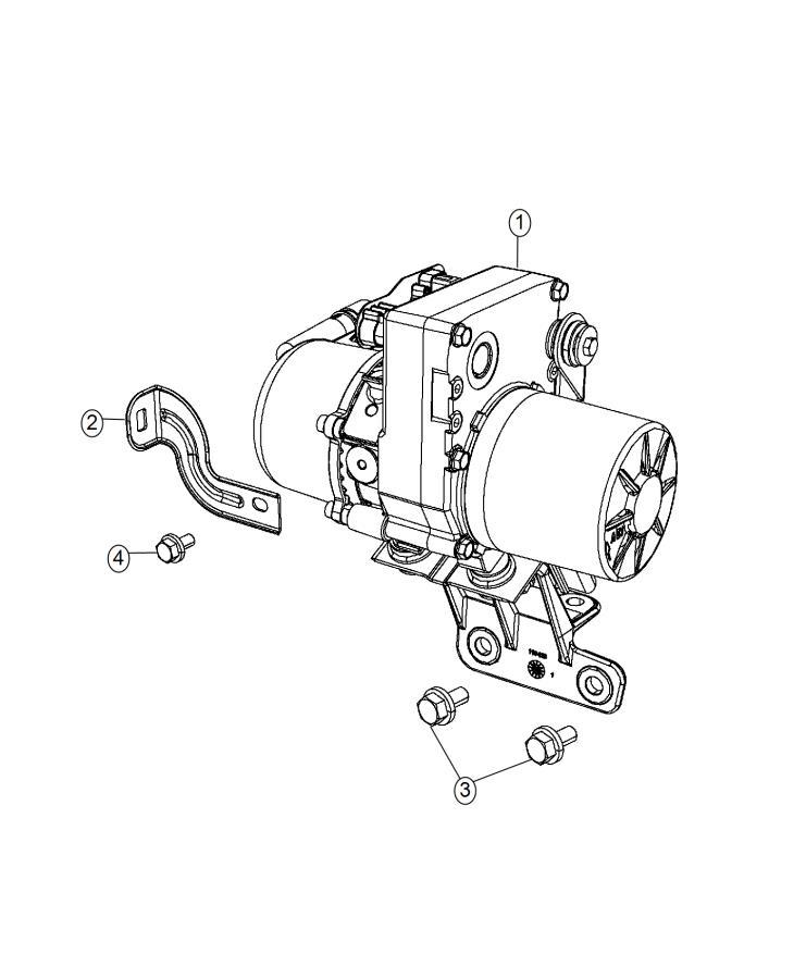 Dodge Durango Bracket. Wiring. Steering, pump, power