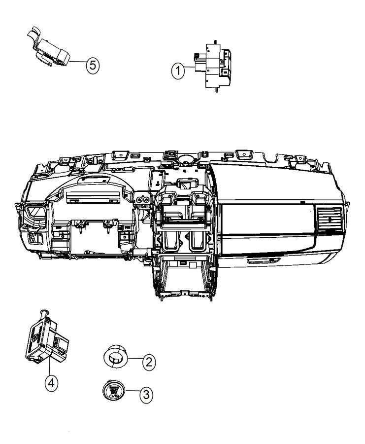 2015 Dodge Grand Caravan Switch. Instrument panel