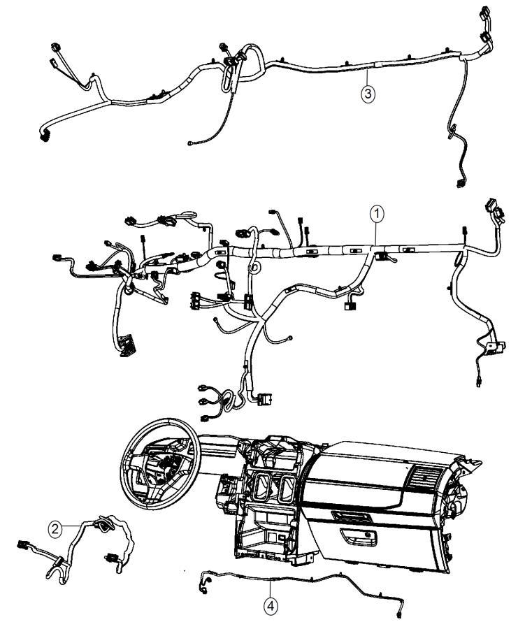 Dodge Grand Caravan Wiring. Instrument panel. Speakers
